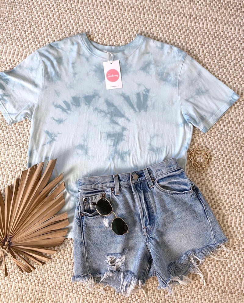In The Clouds Blue Tie Dye Tee