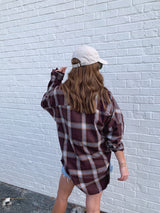 trendy burgundy plaid flannel