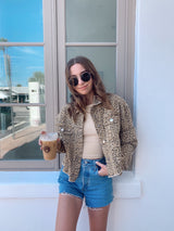 womens leopard denim jacket
