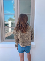 womens cropped leopard denim jacket