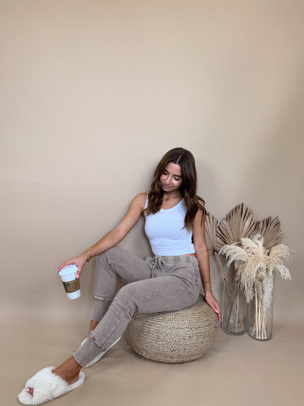 womens mocha brown sweatpants