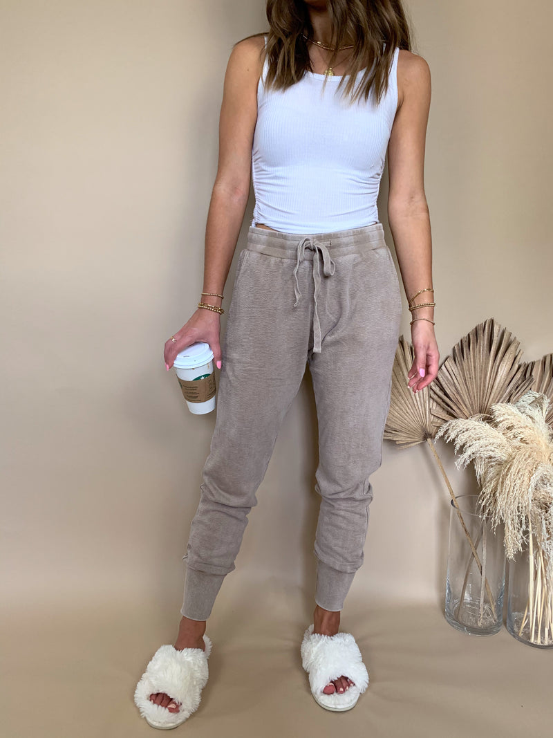 womens light brown sweatpants