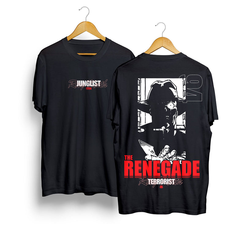 Junglist - Ray Keith Renegade Terrorist Tee.    Limited edition)