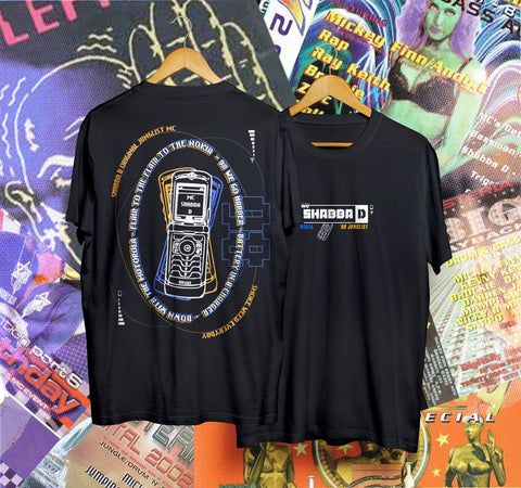 Junglist - Shabba D 'Nokia' Tee (limited edition SIGNED 50 only)