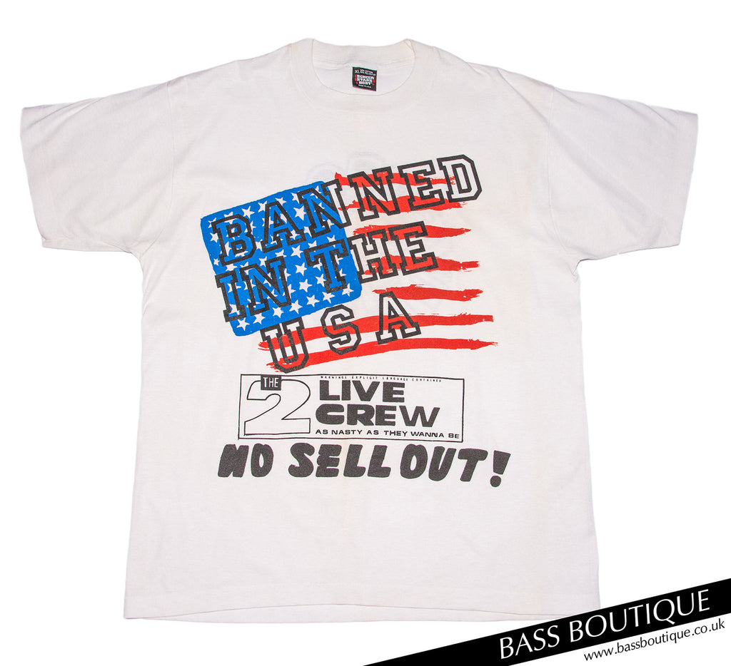 "2 Live Crew ""Banned in the USA"" Vintage T-Shirt (Size XL)"