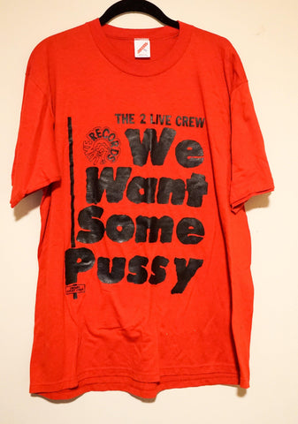 "2 Live Crew 'We want some Pussy"" Rare Vintage T-Shirt (Size XL)"
