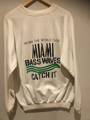 Miami Bass Waves Luke Records Vintage Sweatshirt