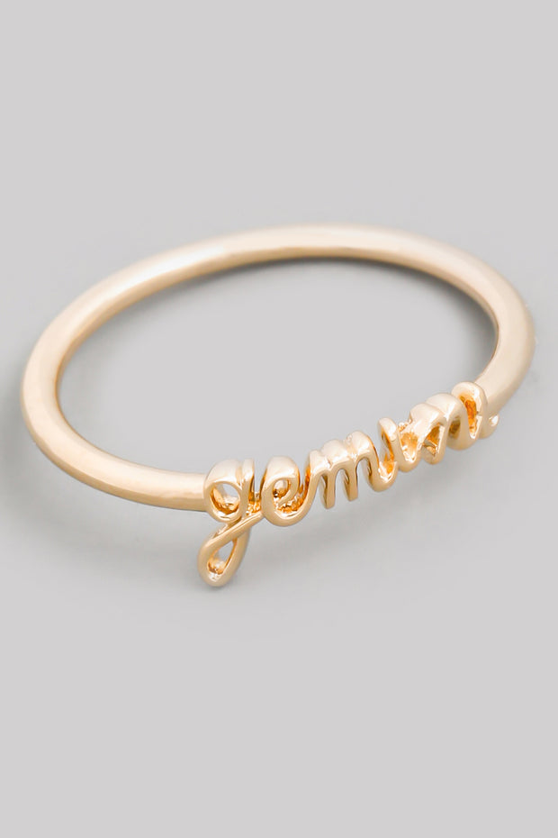 Script Horoscope Ring