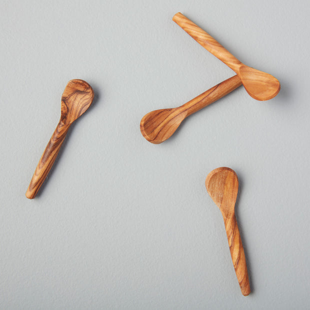Tiny Teak Salt Spoon