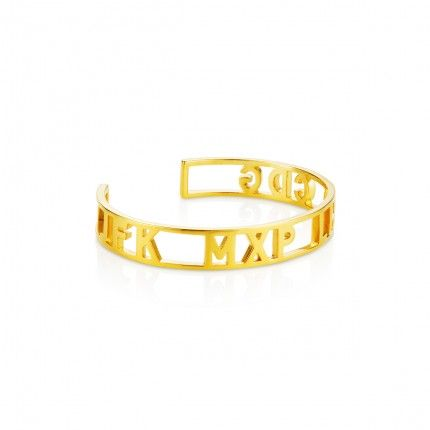 Fashion Capitals Gold Cutout Cuff