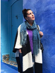 Indigo Travel Scarf - Passport Habits