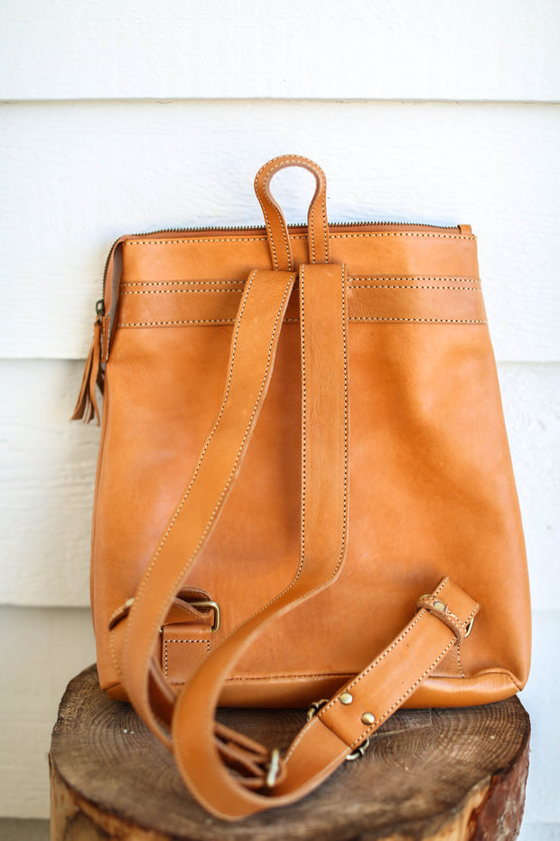 *RESTOCKED* Travel Backpack - Camel - Passport Habits