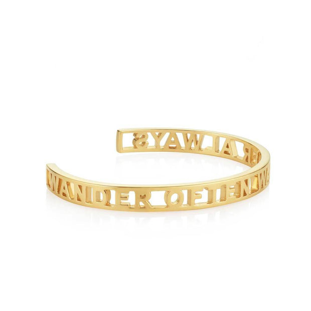 Wander Often Wander Always Gold Cutout Cuff