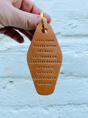 Say It Leather Keychain - Passport Habits