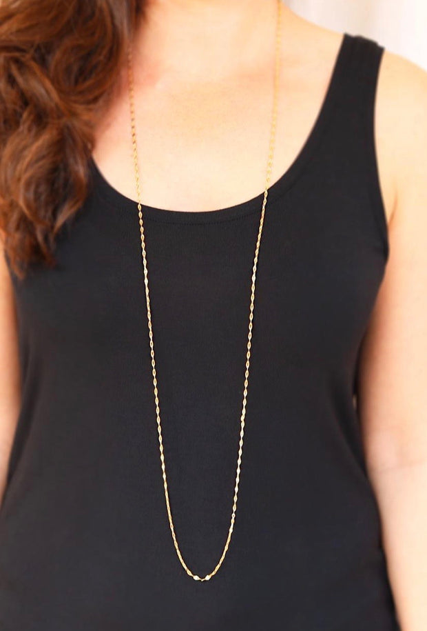 Long layerings chain necklace