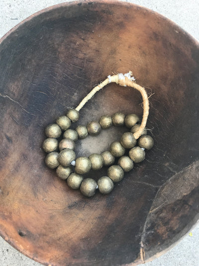 Large Brass Bead Africa - Passport Habits