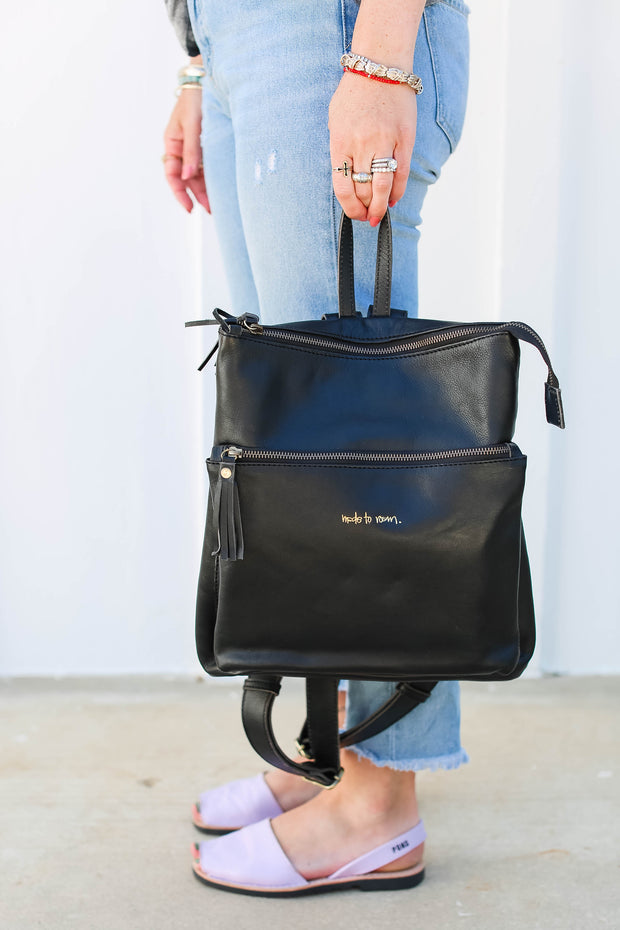 **RESTOCKED**  Travel Backpack - Black - Passport Habits