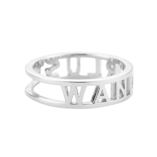 Wanderlust Sterling Silver cutout ring - Passport Habits