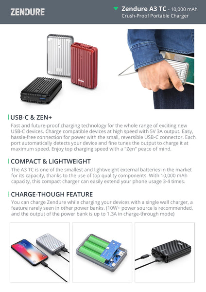 Zendure Powerbank A3 - TC