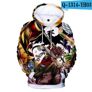 Fairy Tail 3D Hoodie Oversized Pullovers Sweatshirt