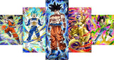 Canvas Wall Art Dragonball HD 5 Pieces | Anime Unity