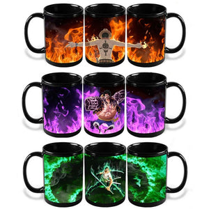 One Piece Coffee Cup (Ruffy, Zorro, Ace)