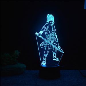 3D Night Light Sasuke Uchiha | Anime Unity