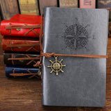 Pirate Anchors Leather Note Book
