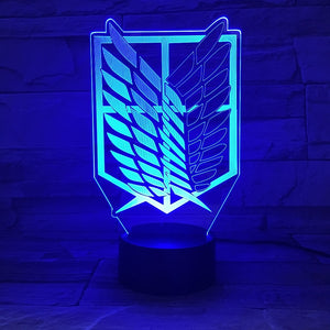 Attack on Titan Wings of Liberty 3D Night Light | Anime Unity