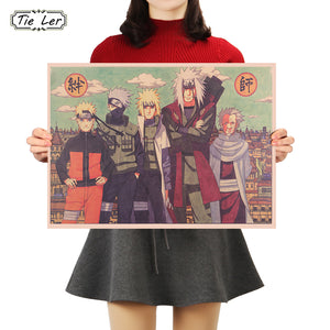 Naruto Drawing Poster Retro Style | Anime Unity