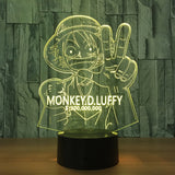 One Piece Wanted Luffy 3D Night Light