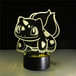 Pokemon Squirtle 3D Night Light
