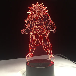 Dragon Ball 3 Super Saiyajin Broly 3D Night Light
