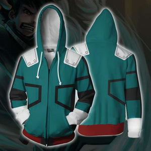 My Hero Academia Midoriya Cosplay Costume/Hoodie Green