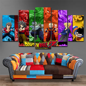 Canvas Wall Art Dragonball 5 Panel | Anime Unity