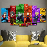 Canvas Wall Art Dragonball 5 Panel