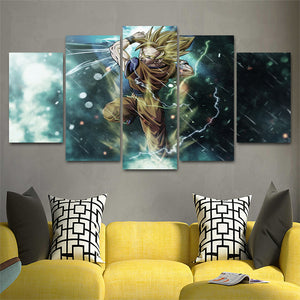 Canvas Wall Art Dragonball Super Saiyajin Goku | Anime Unity