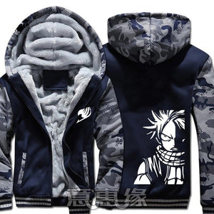 Winter Warm Fairy Tail Hoodie Blue/Natsu
