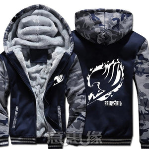 Winter Warm Fairy Tail Hoodie Blue/Flame Insignia