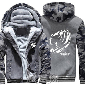 Winter Warm Fairy Tail Hoodie Dark Grey/Flame Insignia