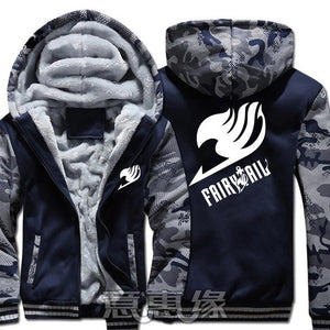 Winter Warm Fairy Tail Hoodie Blue/Insignia