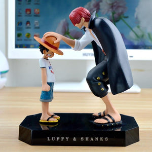 One Piece Straw Hat Luffy and The Red Shanks Figure