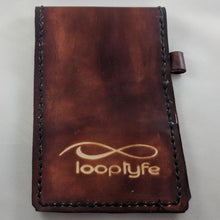 Load image into Gallery viewer, Leather Scorecard Holder Front