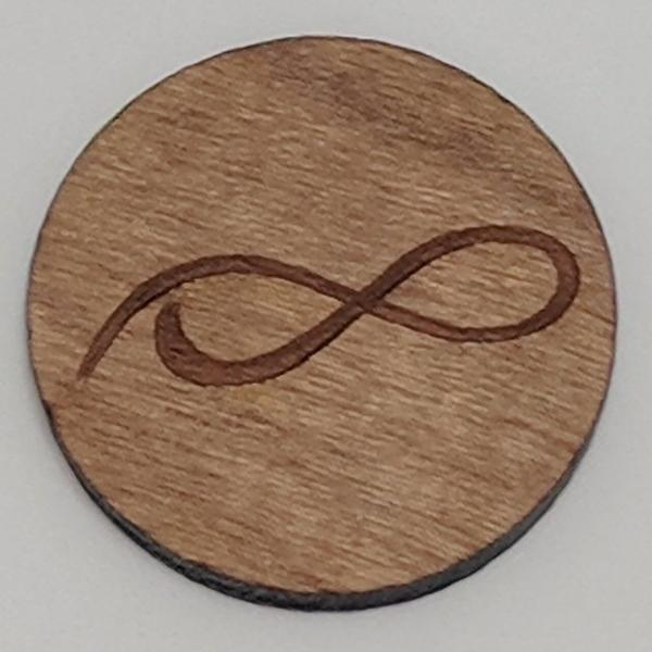 Cherry Wood Ball Marker up close