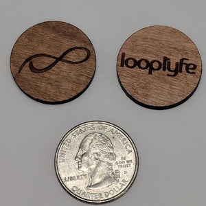 Cherry Wood Ball Marker size comparison