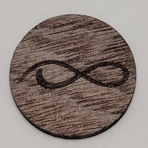 Walnut Wood Ball Marker up close