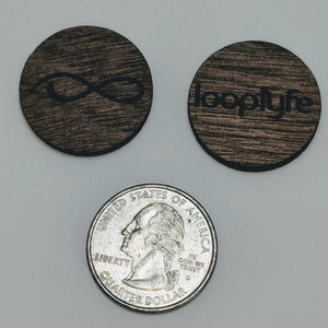 Walnut Wood Ball Marker size comparison