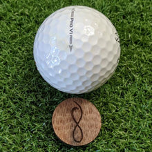 Load image into Gallery viewer, Walnut Wood Ball Marker on the Green