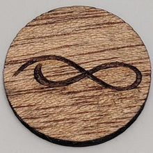 Load image into Gallery viewer, Mahogany Wood Ball Marker up close