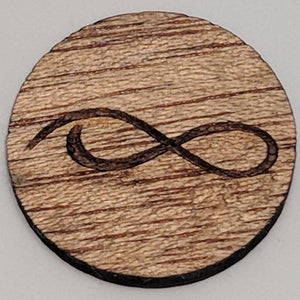 Mahogany Wood Ball Marker up close